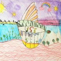 Mýtické zvíře ve svém prostředí, Jakub Szelong, 8 let