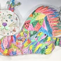 Mýtické zvíře ve svém prostředí, Michaela Kasalová, 9 let