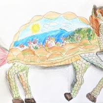 Mýtické zvíře ve svém prostředí, Zuzana Sokolová, 8 let