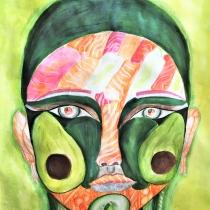 Portrét podle Arcimbolda, Anna Marie Šalatová, 11 let