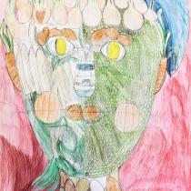 Portrét podle Arcimbolda, Kristýna Kratochvílová, 10 let