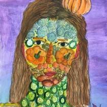 Portrét podle Arcimbolda, Alena Šodková, 9 let