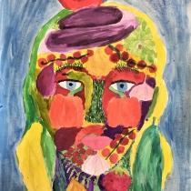 Portrét podle Arcimbolda, Anna Marie Krhovjáková, 11 let